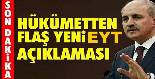 Başbakan Yardımcısı Kurtulmuş'tan EYT Açıklaması