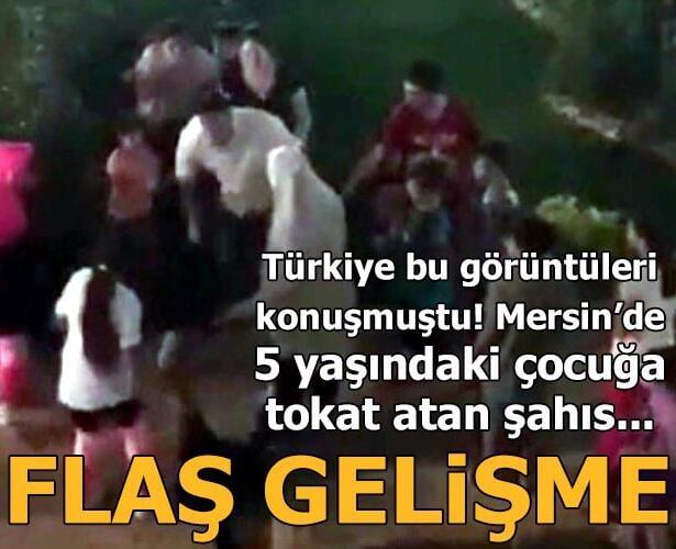 Mersin'de bir sitede çıkan tartışmada küçük çocuğa tokat attığı görüntüleri sosyal medyada paylaşılan zanlı tutuklandı