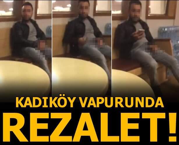 Karaköy-Kadıköy vapurunda kaydedilen görüntü sosyal medyada büyük tepki çekti