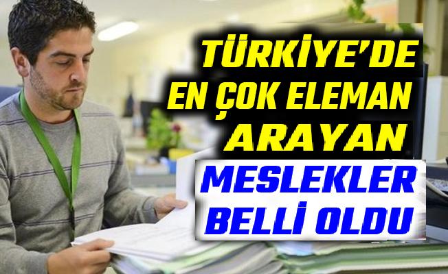 Türkiye'de en çok eleman arayan meslekler 2020