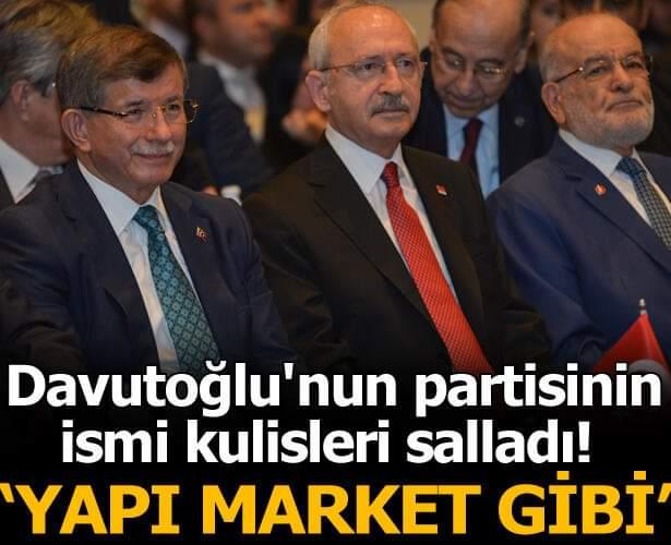 Ahmet Davutoğlu'nun yeni kuracağı partinin ismi kulisleri salladı!