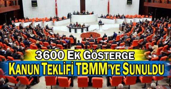 3600 Ek Gösterge Kanun Teklifi TBMM