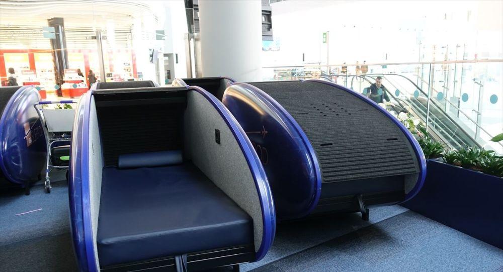 İstanbul Havalimanı'nda uyku kabini hizmeti başladı: Saati 9 euro