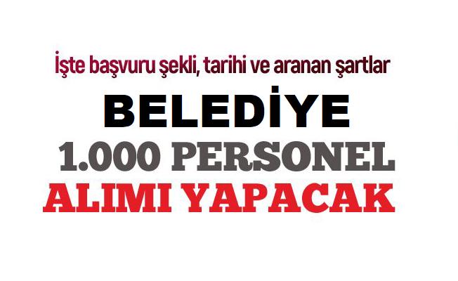 İstanbul Büyükşehir Belediye Başkanlığı 1000 personel alımı yapacaktır