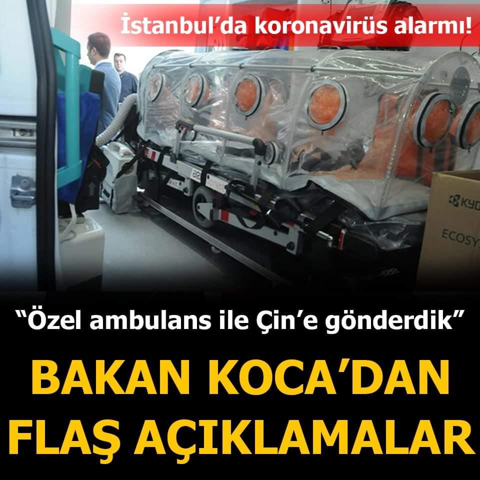 Sağlık Bakanı 'koronavirüs' açıklaması virüs Türkiyede