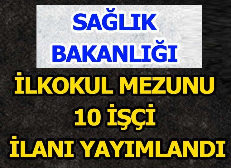 Türkiye Hudut ve Sahiller Sağlık Genel Müdürlüğü işçi alımları 2020