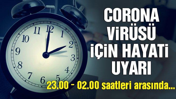 Coronavirüsüne karşı Hayati Uyarı!