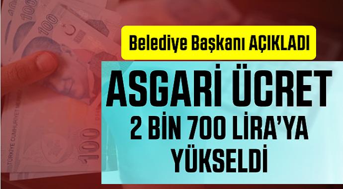 Taşeron ve işçi Asgari Ücretli Çalışanlara  2 Bin 700 TL Oldu!