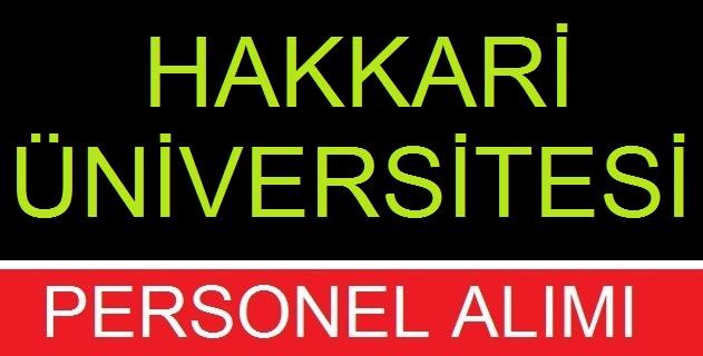 Hakkari Üniversitesi iç Denetçi Devlet Memuru alım ilanı