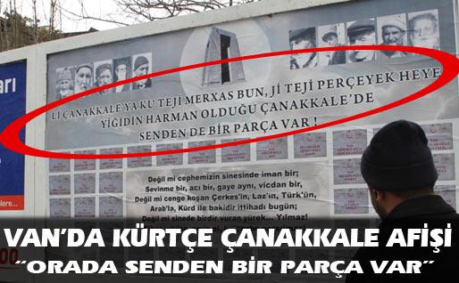 Van ve Diyarbakırda Kürtçe Çanakkale Zaferi Afişleri Asıldı