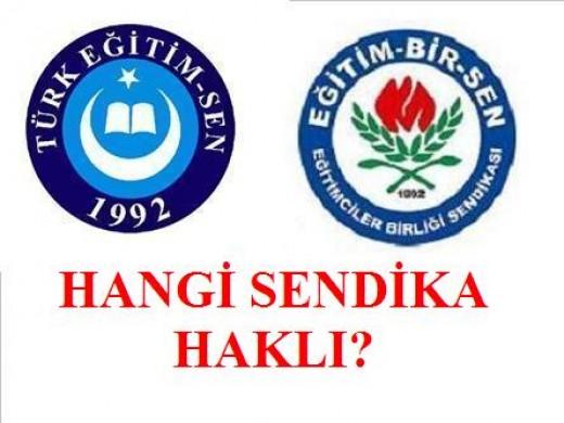 Eğitim Bir-Sen Türk Eğitim Sen Kavgası