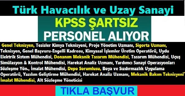 Türk Havacılık Uzay Sanayi Personel Alımı 2020
