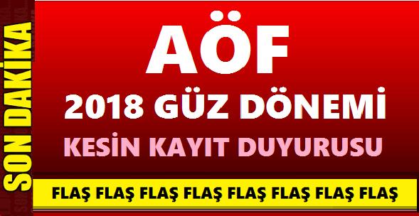 Istanbul üniversitesi Auzef 2018 Güz Dönemi Kesin Kayit Duyurusu
