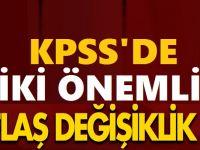 KPSS'ye İlişkin 2 Önemli Değişiklik !