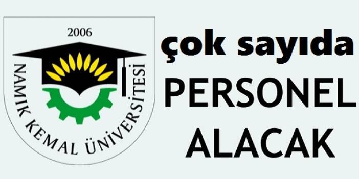 Namık Kemal Üniversitesi Lise Önlisans Lisans 97 Personel Alımı