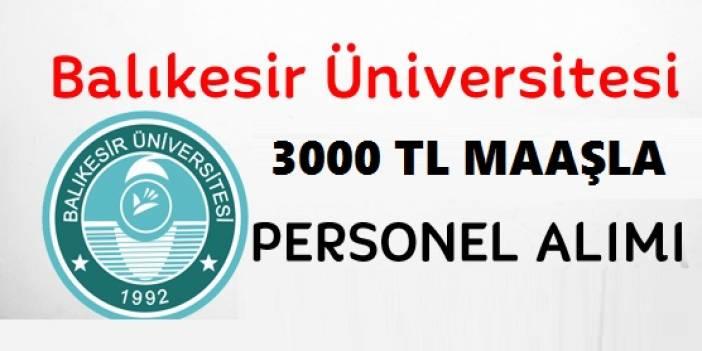 Balıkesir Üniversitesi Sağlık Personeli iş ilanları 2020