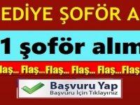 KPSS'siz 11 belediye Şoför Alımı