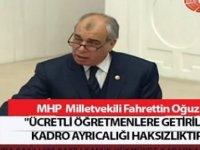 5 Bin Ücretli Öğretmene Kadro Verilmesine MHP Milletvekilinden Tepki