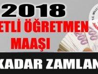 ÜCRETLİ ÖĞRETMEN MAAŞLARI 2018
