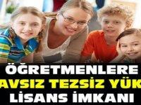 Öğretmenlere sınavsız tezsiz yüksek lisans 2018