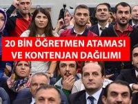20 Bin Öğretmen Ataması Branş Kontenjanları ÖZEL HABER