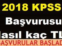 2018 KPSS Önlisans başvurusu nasıl kaç TL?