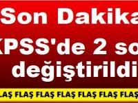 Son Dakika! KPSS'de 2 soru değiştirildi