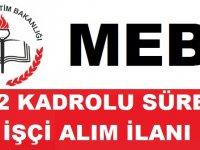 Milli Eğitim Bakanlığı Kadrolu Sürekli 1002 İşçi Alım ilanı yayınladı