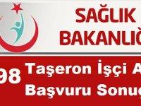 Sağlık Bakanlığı 5298 İşkur taşeron İşçi Alımı Başvuru Sonuçları