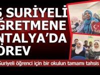 95 Suriyeli Öğretmen Antalya'da göreve başlıyor