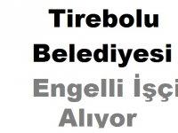 Tirebolu Belediyesi Engelli İşçi Alıyor