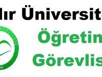 Iğdır Üniversitesi Çok Sayıda Öğretim Görevlisi Alıyor
