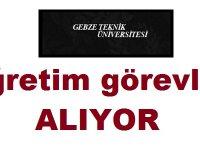 Gebze Teknik Üniversitesi Öğretim Üyesi Alıyor