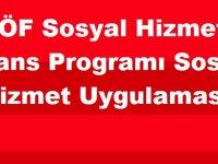 AÖF Sosyal Hizmet Lisans Programı Sosyal Hizmet Uygulaması