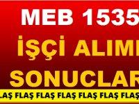 MEB 1535 işçi alımı engelli, hükümlü kura çekimi sonuçları