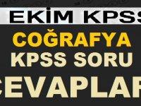 7 Ekim 2018 Coğrafya KPSS Soru ve Cevapları