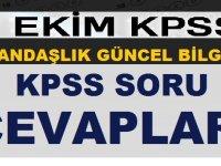 7 Ekim 2018 KPSS Anayasa Vatandaşlık Soru ve Cevapları