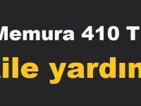 Memura 410 TL aile yardımı