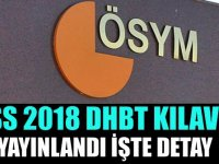 KPSS 2018 DHBT Kılavuzu Yayınlandı
