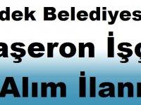 Erdek Belediyesi Taşeron İşçi Alım İlanı