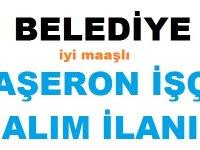 Yalnızbağ Belediyesi Taşeron işçi alım ilanı
