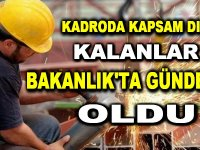 Kadroya geçen sürekli işçiler ve belediye şirket işçileri