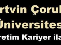 Artvin Çoruh Üniversitesi Öğretim Kariyer ilanı
