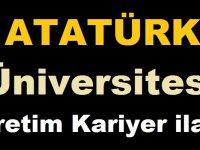 Atatürk Üniversitesi Kamu KARİYER İŞ İLANI