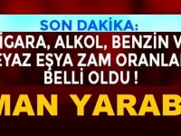 Sigara, Alkol, Akaryakıt, Beyaz Eşya 2019 ÖTV Zamları Aman Yarabbim