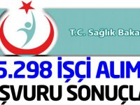 Sağlık Bakanlığı 5 Bin 298 İşçi Alımı Kura sonuçları