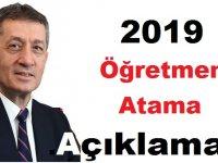Bakan Selçuk'tan 2019 Öğretmen Atama Açıklaması