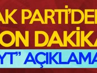 AK Parti'den SON DAKİKA EYT açıklaması!