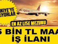 Katar Hava Yolları 15 Bin TL Maaşla Kabin Görevlisi İlanı Verdi