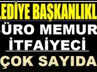 Türkiye Geneli Belediyeler Çok Sayıda Kamu Personeli Alımları Yapıyor
